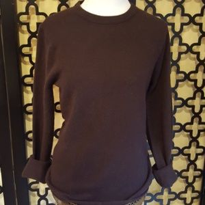 CHOCOLATE BROWN CASHMERE J CREW SWEATER